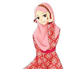 Click the image to open in full size. Hijabi Girl, Girl Hijab, Hijab Drawing, Islamic Cartoon, Hijab Cartoon, Muslim Hijab, Cute Anime Pics, Muslim Girls, Mode Hijab