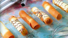 Receta de Cigarrillos o Cigarros rusos Around The World Food, Sweet Cookies, Great Appetizers, No Cook Desserts, Empanadas, No Bake Cake, Hot Dog Buns, Favorite Recipes, Sweets