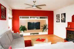 Realizace obývacího pokoje a kuchyně s jídelnou Střední Čechy Rugs In Living Room, Flat Screen, German, Pasta, Style, Colors, Blood Plasma, Deutsch, Swag