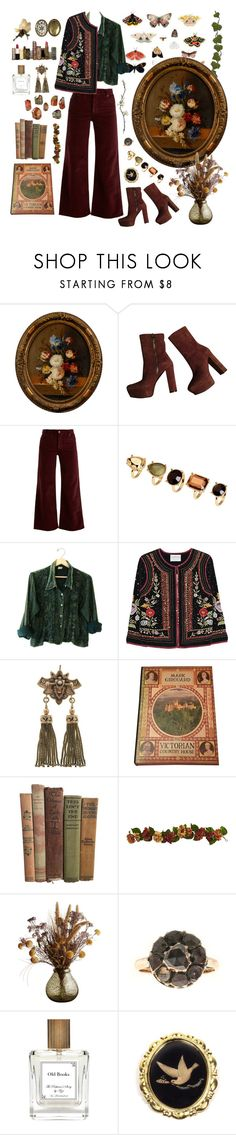 """🗝 the 19th century atmosphere"" by lilyyjey ❤ liked on Polyvore featuring Gucci, Eve Denim, H&M, Velvet by Graham & Spencer, The Perfumer's Story by Azzi, Hoolala, Louche and vintage"