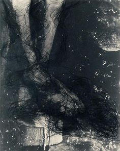 Arnulf Rainer, Christusfüsse 1981 oilstick on lithograph 23 1/2 x 18 1/2 inches 59.7 x 47 cm