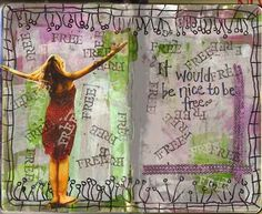 it would be nice to be free.  Another fabulous @Shauna (LilDuckieArts) lee lange arts advisory curation.
