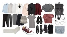 """""""my school capsule (supplemented)"""" by katie-moro on Polyvore featuring мода, J Brand, Uniqlo, Vetements, WithChic, WearAll, N°21, MANGO, M Missoni и Dr. Martens"""