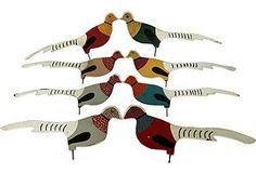 Folk Art Birds, Set of 8