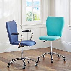 Captivating Airgo Armless Twill Chair, Light Gray