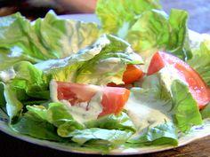 Bibb Salad with Basil Green Goddess Dressing from FoodNetwork.com. Historic dressing. Gotta try it.