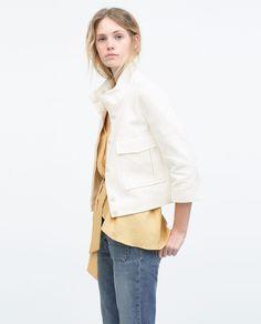 Imagem 1 de CASACO COM BOLSOS PLASTRON GRANDES da Zara