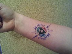 Zelda Triforce tattoo by Rohad