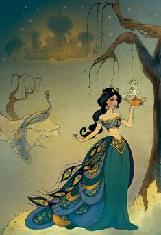 Art by Stacey Aoyama. From: DisneyStore Posted to: The Art of the Disney Princess: Fine Art & Disney Couture. Disney Fan Art, Disney Pixar, Walt Disney, Disney E Dreamworks, Disney Magic, Disney Characters, Punk Disney, Disney Princes, Disney Dream