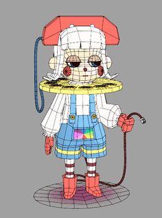 3d Model Character, Character Modeling, Character Concept, Character Art, Character Design, Character Illustration, Illustration Art, Animation Tutorial, Modelos 3d