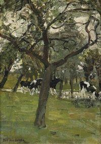 View Trees and cows along a stream by Piet Mondrian on artnet. Browse upcoming and past auction lots by Piet Mondrian. Piet Mondrian, Kandinsky, Antoine Bourdelle, Dutch Painters, Post Impressionism, Famous Art, Dutch Artists, Modern Artists, Beautiful Paintings