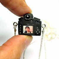 Personalized Canon 5D Mk III Camera miniature necklace