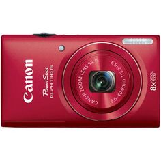 Canon PowerShot ELPH 130 IS 16MP Digital Camera Red $146.47
