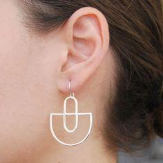 Deco Sterling Silver Statement Earrings