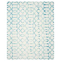 Safavieh Estcott Area Rug - Ivory/Turq (9'x12'), Ivory/Turquoise