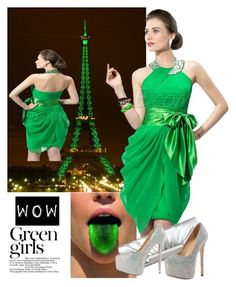 """""""GREEN"""" by elmaman ❤ liked on Polyvore featuring Green Girls"""