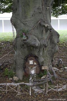 Ландшафтный декор - домик для Эльфа.. Обсуждение на LiveInternet - Российский Сервис Онлайн-Дневников