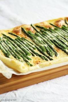 Blätterteig-Tarte mit grünem Spargel | Penne im Topf | Bloglovin'