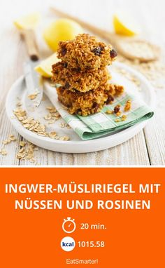 Ingwer-Müsliriegel mit Nüssen und Rosinen - smarter - Zeit: 20 Min. | eatsmarter.de