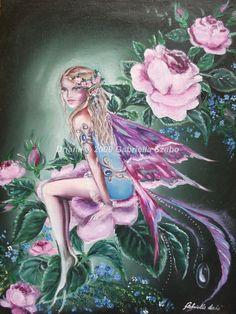 gabriella szabo driana fairy watercolor original art painting fantasy