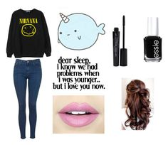 """me rn"" by aliclm ❤ liked on Polyvore featuring Smashbox, Chicnova Fashion, Fiebiger, Essie and Topshop"