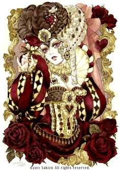 "Wonderland ""Queen Of Hearts"" by manga artist Sakizou."