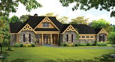 Craftsman House Plan with 2234 Square Feet and 3 Bedrooms from Dream Home Source | House Plan Code DHSW076441