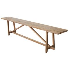 Console Table Made from Reclaimed Pine, Built to Order by Petersen Antiques Antique Console Table, Modern Console Tables, Antique Furniture, Wood Furniture, Traditional Console Tables, Reclaimed Wood Benches, Antiques For Sale, Mortise And Tenon, Wood Species