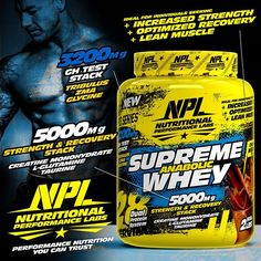 NEW! Introducing NPL's SUPREME ANABOLIC WHEY - With Added SUPER STACKS! - NPL's… Supreme, Nutrition, Instagram Posts, Products, Gadget
