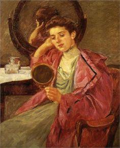Antoinette at her dresser - Mary Cassatt