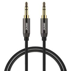 Deals week Aux Cable 6 Feet iXCC Auxiliary Stereo Audio Cable Male to Male with Gold-plated Connector for All Aux Jack Devices Apple Samsung Android Windows Smartphones Tablets and Players - Gray Best Selling Audio Connection, Aux Cord, Output Device, Male To Male, Ipad Mini 3, Chromebook, 6s Plus, Android Windows, Mp3 Player