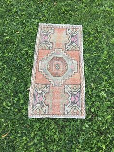 "Romantic Shabby Chic Turkish Yastik Rug,Eclectic Bathroom Rug,Mat 1'8""x3'2"" 