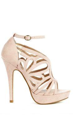 Blush cut out heels $25