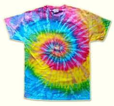 Website with helpful ideas on how to tye dye shirts into specific patterns