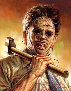 Brilliant artwork by Jason Edmiston. The Texas Chainsaw Massacre(1974).