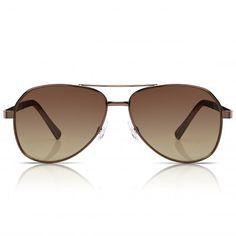 SUNGLASSJUNKIE.COM mens bronze contemporary aviator sunglasses