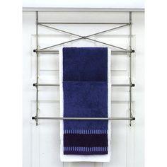 Over-the-Door Bath Towel Holder, Pearl Nickel Finish