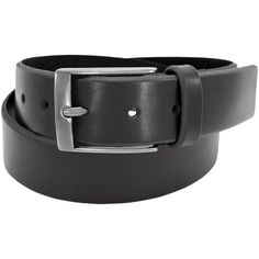 Florsheim Black Leather 38-millimeter Full-grain Beveled Edge Casual Belt ( 32 M (30 - 32) Inches) b1568bab3f9