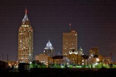 Mobile AL - Beautiful lights of city