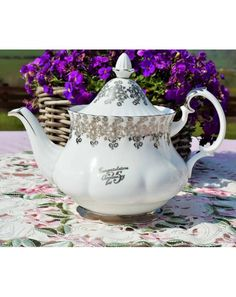 Vintage English Bone China Teapots to Buy. Royal Albert, Paragon,Colclough etc Large selection of Vintage Teapots. 25th Wedding Anniversary, Silver Anniversary, English Teapots, China Teapot, Tea Service, Chocolate Pots, Royal Albert, Vintage Silver, Cup And Saucer
