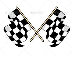 Buy Checkered Flags by VectorTradition on GraphicRiver. Checkered flags icon for motorsports design with crossed black and white flags waving in the breeze. Stickers 3d, Bike Stickers, Vector Design, Vector Art, Logo Design, V Rod, Black And White Flag, Hot Rod Tattoo, Motor Logo