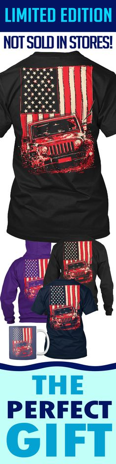 Jeep American Flag Splash - Limited edition. Order 2 or more for friends/family & save on shipping! Makes a great gift!