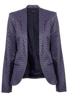 Loving this patterned navy blazer from TopShop