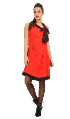Robe DIANE rouge/noir