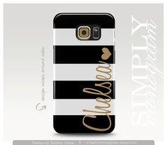 Samsung Galaxy S6 Case Monogram Phone Cover by simplymonogram