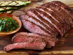 Now you can be the hero at dinner, thanks to chef Anne Wiles. She cooked up this delicious creation at a fundraiser for the Dangberg Home Ranch, using our flank steak, and she kindly agreed to share it! Marinated Flank Steak, Flank Steak Recipes, Carne Asada, Chef Recipes, Food Network Recipes, Bbq Lamb, Steak With Chimichurri Sauce, Flat Iron Steak, Grass Fed Beef
