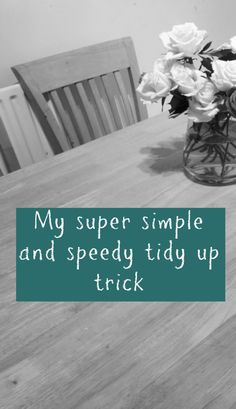 A super simple and speedy Tidy Up Trick - Thrifty Home
