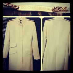 Dolce & Gabbana winter white opera length jacket light-weight coat sz M... #dolcegabbana #fashionista #fashion #cashinyourcloset #dolceandgabbana  #couture #consignmentshop #consignment #tribeca #nyc #nyfw #statenisland - @resaleriches- #webstagram
