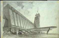Hugh Ferriss sketch