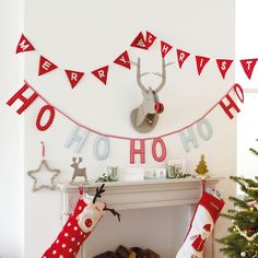 We love bunting at any time of the year but at Christmas time in particular with our Ho Ho Ho Bunting and our Merry Christmas Reindeer Bunting. Christmas Candy Bar, Christmas Bunting, Christmas Stockings, Christmas Holidays, Christmas Wreaths, Merry Christmas, Christmas Decorations, Christmas Ornaments, Father Christmas